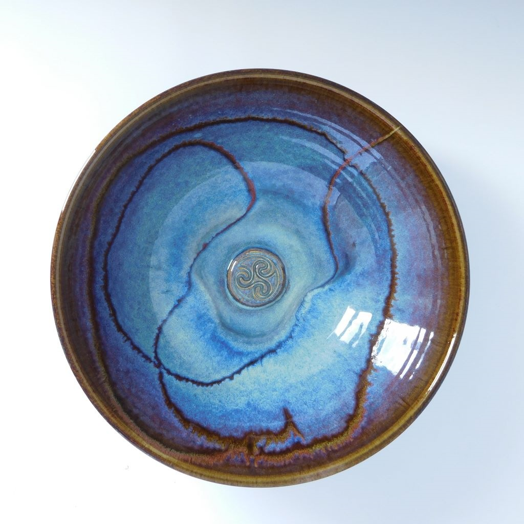 Colm De Ris Salad Dish Blue