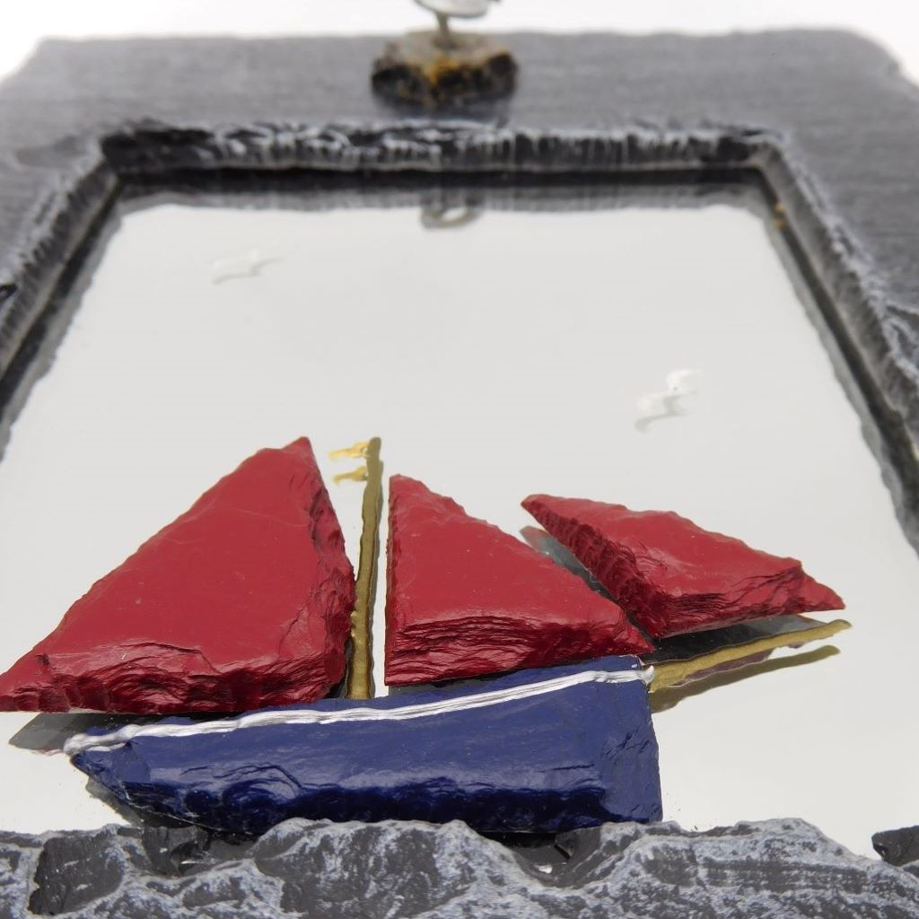 Galway Hooker Slate Mirror Close Up