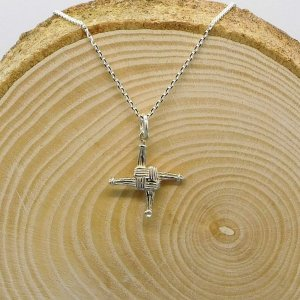 St Brigids Cross Necklace