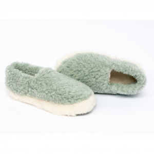 mint wool slippers