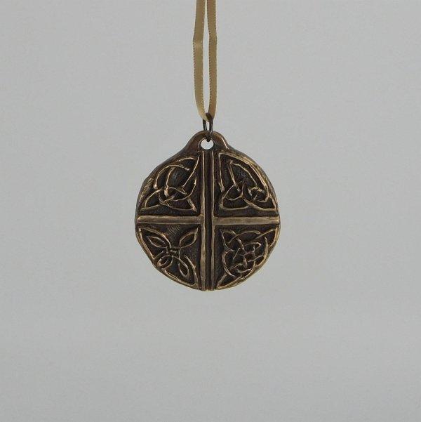 Celtic Love Cross Bronze Ornament Wild Goose Studio