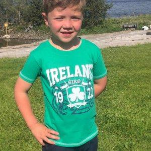 Green Ireland Celtic Nation Kids T-Shirt front