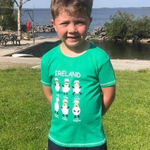 Happy Sheep Green T-Shirt for kids