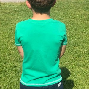 Happy Sheep Green T-Shirt for kids from back