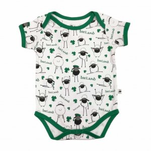 white green overall print sheep baby vested-sheep-baby-vest-
